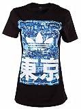 Adidas Originals Women's City Trefoil Boyfriend Crew T-Shirt-Black