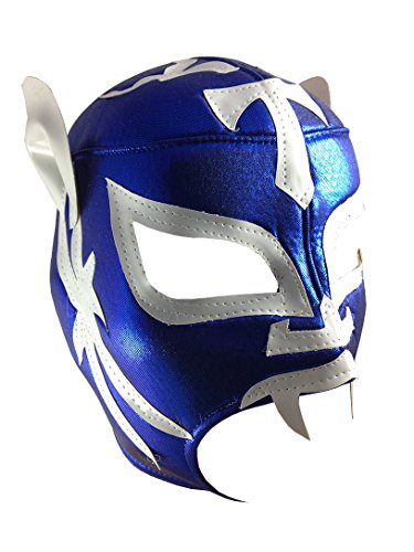 EXTREME TIGER Adult Lucha Libre Wrestling Mask (pro-fit) Costume Wear - Blue/White