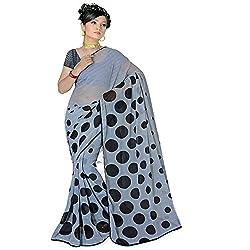 Pawan Tex saree for women's (saree75_gray)