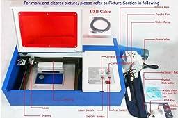 GTSUN Laser Engraving Machine,laser Cutting Machine, 40w Co2 Laser Engraver, 200*300mm, USB Port 3020