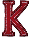 Iron on CAPITALS Red Blue 8 10cm K name letters uk kids fabric greek letters personalize how to decorate uk a baby shower kids letters embroidery patch manufacturer alphabet letter embroidery applique letters arabic letters uk kids unusual baby gifts mach