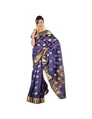 Kashish Navy Blue Silk Saree For Women