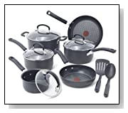 T-fal Hard Anodized Nonstick Thermo-Spot 12-Piece Cookware Set
