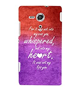 EPICCASE romantic quotes Mobile Back Case Cover For Sony Xperia SP (Designer Case)