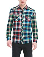 Desigual Checkmate - Chemise casual - Taille normale - Manches longues - Homme