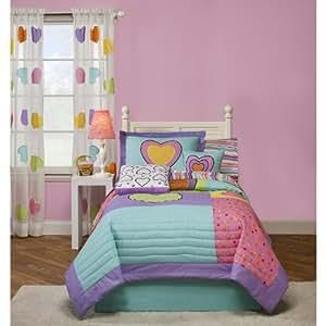 Crayola Hearts Bedskirt - Twin