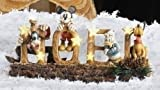 Disney Mickey Mouse Donald Goofy Pluto NOEL Lighted Christmas Decoration #39764