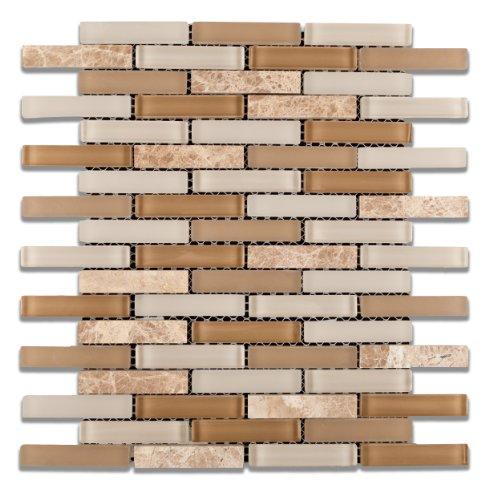 Newport Balboa Stone And Glass Mix Brick Mosaic Tile 6