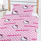 Hello Kitty 'Comic' 4 in 1 Junior/Toddler Beding Bundle (Duvet Pillow And Covers)