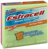 Brillo Estracell Sponge Wipe, 2 Count