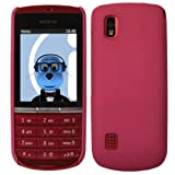 ITALKonline Nokia Asha 300 PINK Hard Slim Grip Wave Tough Case Soft Skin Cover