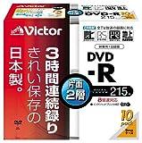 Victor 片面2層DVD-R録画用 CPRM対応 8倍速 ホワイトプリンタブル10枚 VD-R215PA10