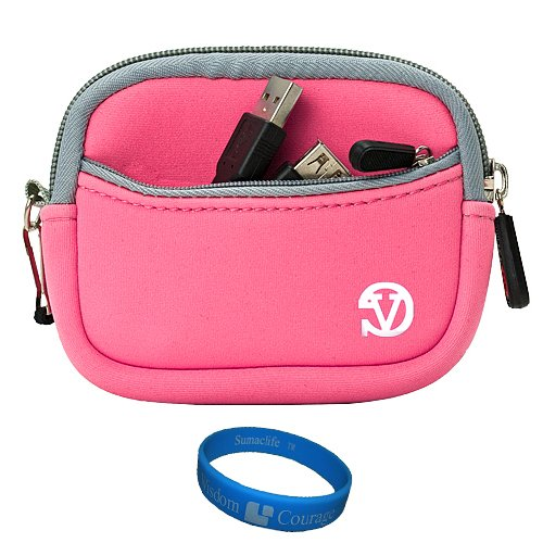 Baby Pink VG Neoprene Sleeve Protective Camera Pouch Carrying Case for Samsung ST66 ST93 ST95 ST90 ST65 ST30 ST700 ST80 ST100 ST550 SL202 SL30 SL102 DV300F MV800 PL150 PL170 PL120 PL200 PL210 PL100 SH100 WB210 WB700 WB2000 AQ100 WP10 TL350 TL210 TL205 TL2