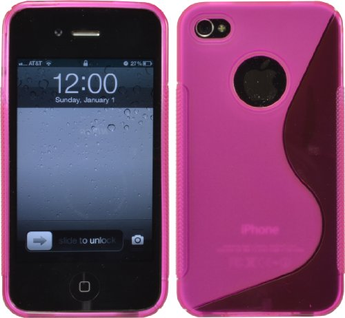 S-Line Tpu Silicone Gel Case Cover For Iphone 4 4G 4S At&T Verizon Sprint Pink