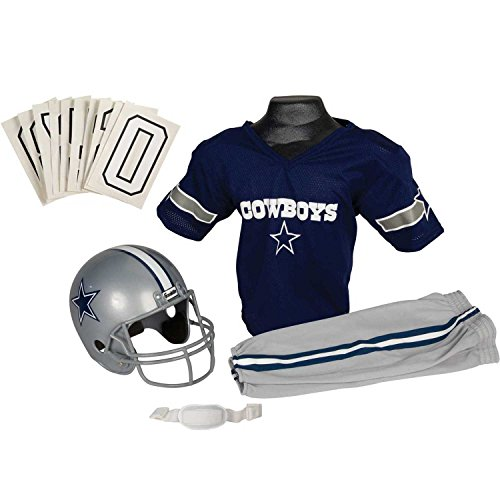 Franklin Sports NFL Dallas Cowboys Deluxe Youth Uniform Set, Small