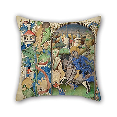 Happy Festival Master Of Guillebert De Mets (Flemish Active About 1410 1450) Saint George And The Dragon Cushion Covers 18 X 18 Inches 45 By 45 Cm For Bedroom Family Monther Sof For Home (Dresser Knobs Mets compare prices)