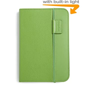 Kindle Lighted Leather Cover, Green (Fits Kindle Keyboard)