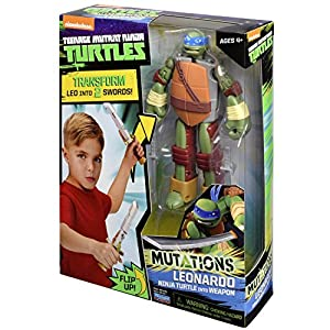 Teenage Mutant Ninja Turtles Turtle to Weapon Leo Mutations Deluxe Figures