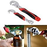 Homegoal 2Pcs Portable Adjustable Quick Snap and Grip Wrench Universal Wrench Set