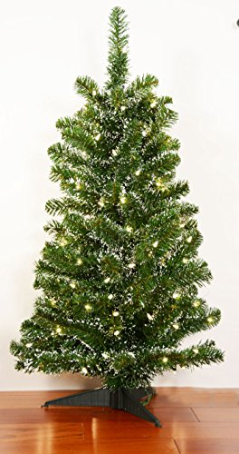 36-Inch-Pre-lit-Pine-Tree-with-Lightly-Frosted-Tips-Tabletop-Christmas-Pine-Tree