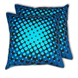 House This Bike-Supernova Blue Set Of 2 Cushion Covers- 16 X 16