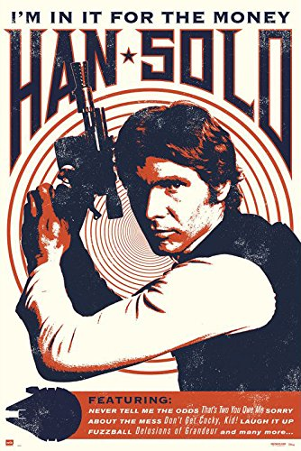 Star Wars - Movie Poster / Print (Han Solo - Retro / Vintage Style - Quotes) (Size: 24