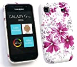 FLASH SUPERSTORE SAMSUNG I9001 GALAXY S PLUS GEL SKIN COVER LILAC FLOWERS