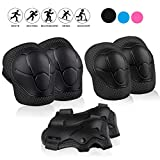 STARPOW Kids Protective Gear, Knee Pads for Kids Knee and Elbow Pads 6 in 1 Set with Wrist Guard and Adjustable Strap for Skating Cycling Bike Rollerblading Scooter [Upgraded Version 4.0]
