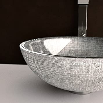 Atelier Venice Bathroom Sink Sink Finish: Silver / Black