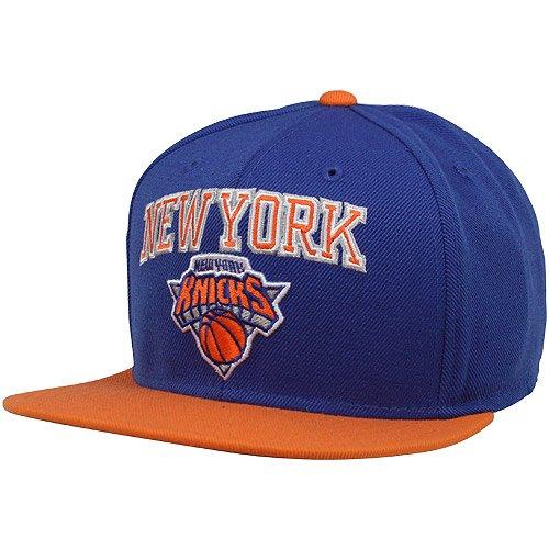 87b87c4de26 NBA adidas New York Knicks Two Tone Wool Blend Snapback Hat Royal  Blue Orange
