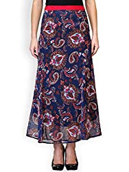 Purplicious Blue Paisley Printed Skirt