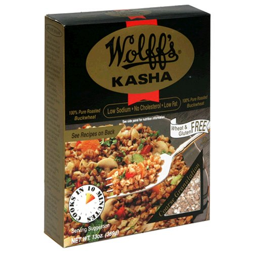 Wolff'S Kasha, Roasted Buckwheat Kernels, 13-Ounce Boxes (Pack Of 12)