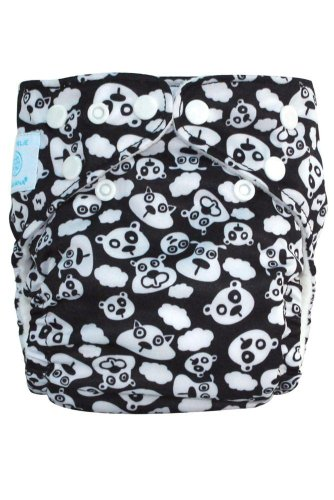 Charlie Banana Reusable 2 In 1 Cloth Diaper, Blackbeary front-1070498