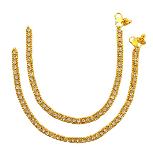 Indian Traditional Belly Dance Gold Plated CZ