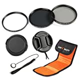K&F Concept 72mm UV CPL ND8 Lens Accessory Filter Kit UV Protector Circular Polarizing Filter Neutral Density Filter for Canon 7D 60D 70D 500D for Nikon D7000 D600 D300 D800 D7100 for Sony A77 NEX 5 DSLR Cameras + Snap-On Lens Cap/Cap Keeper Leash + Filt
