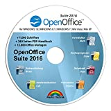 Software - Open Office Suite 2016 Home Student Professional - 100% kompatibel mit Microsoft® Office® Word® und Excel® für Windows 10-8-7-Vista-XP
