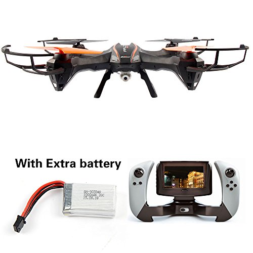Udi U818S Large 6-Axis Gyroscope RC Quadcopter Drone Black Color with FPV Camera & WIFI-818 Real-Time FPV Remote Control with...