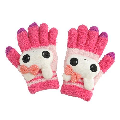 Western United-Touch-Screen- Plüsch- Handschuhe für iPhone iPad Samsung Smartphone Tablet Touch Screen Elektronische Geräte , Texting Handschuhe in Pink Kaninchen Design , Halten Sie Ihre Hände wärmt , während Sie Ihren Touchscreen-Handys