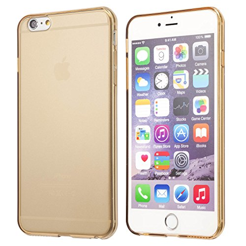 iPhone 6S Plus case, Totallee Revealer, Flexible Soft Slim Jelly Transparent TPU Cover for iPhone 6 Plus and 6S Plus (Gold) (Iphone 6 Soft Jelly compare prices)