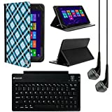 VanGoddy Mary 2.0 Portfolio Case For Samsung Galaxy Tab S2 9.7 / A 9.7 / E 9.6 Inch Tablets With Bluetooth Keyboard...