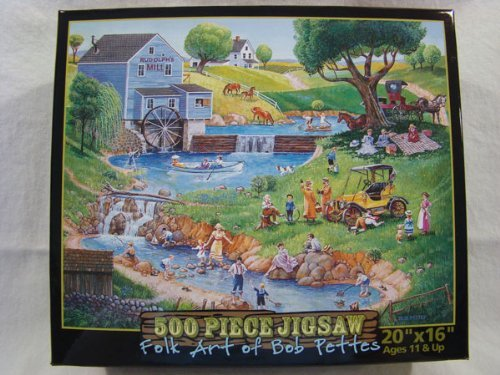 Folk Art of Bob Pettes 500 Piece Jigsaw Puzzle: Rudolph's Mill