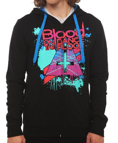 Blood on the Dance Floor Splatter Hoodie (Black, X-Large)