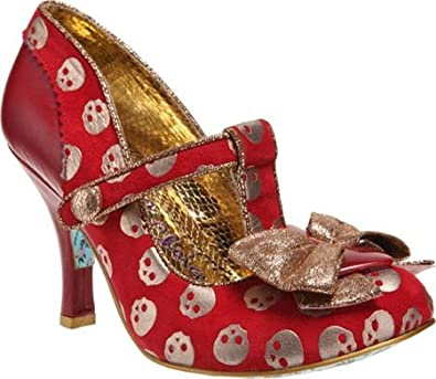 Irregular Choice Women's Chilly Dog,Red Leather,US 11 M