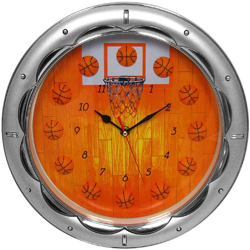 Trademark 13-Inch Basketball Wall Clock - Quartz Movement front-514725