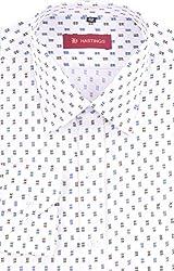 HASTINGS Men's Formal Shirt (V144_42, White, 42)