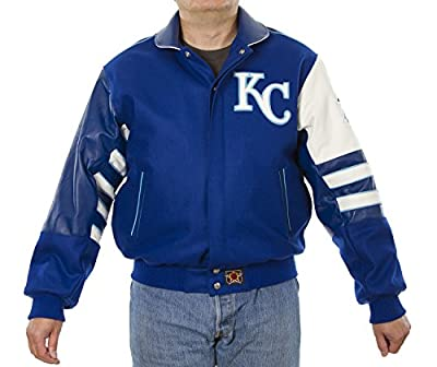 Kansas City Royals Wool & Leather Jacket Hand Crafted in U.S.A
