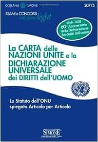 La carta delle Nazioni Unite e la Dichiarazione universale dei diritti