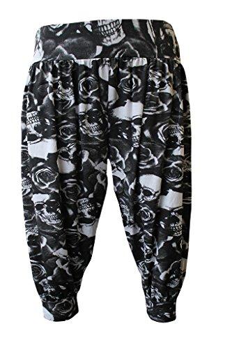 Lul® 3/4Ali Baba Harem pantaloni Skull&Rose XXXL