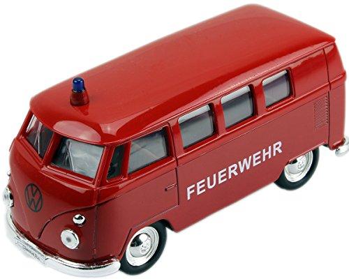 Volkswagen-VW-Feuerwehr-Bulli-T1-T2-Modellauto-ca-12-cm-GYD