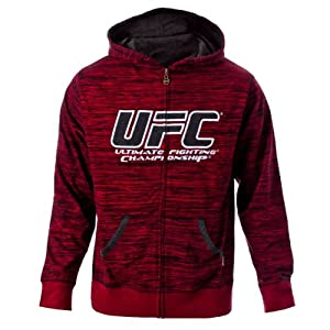UFC Men's Flame/Black Twisted Zip Up Hoodie (X-Large)